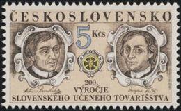 Czechoslovakia / Stamps (1992) 3023: Anton Bernolak (1762-1813) & Juraj Fandly (1750-1811); Painter: Jozef Balaz