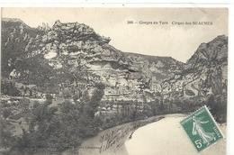 386. GORGES DU TARN . CIRQUE DES BEAUMES . ECRITE AU VERSO/ AFFR SUR RECTO MAIS PAS OBLIT - Gorges Du Tarn