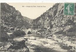 382. LES GORGES DU TARN . PERTE DU TARN . AFFR SUR RECTO ECRITE AU VERSO . - Gorges Du Tarn