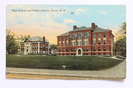 HIGH SCHOOL AND PUBLIC LIBRARY, DOVER, N.H. NEW HAMPSHIRE, USA, 1914 - Dover