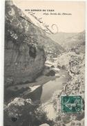 2649. LES GORGES DU TARN . SORTIE DES DETROITS . AFFR SUR RECTO LE 10-10-1911 - Gorges Du Tarn