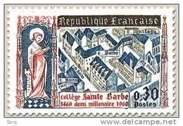 N° 1280 Collège Sainte Barbe Faciale 0,30 F - Ungebraucht
