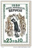 N° 1253 Année Mondiale Du Réfugié Faciale 0,25+0,10 F - Ungebraucht