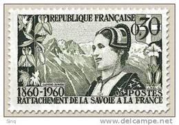 N° 1246 Centenaire Du Rattachement Du Duché De Savoie Faciale 0,30 F - Ungebraucht