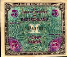 ALLEMAGNE OCCUPATION ALLIEES WW II  5 MARK De 1944 Pick 193  XF/SUP - [ 5] 1945-1949 : Allies Occupation