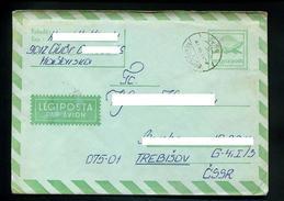 Marcophilie,entier Postaux Par Avion,légiposta,Hongrie,lettre Obliterée 17.6.1983 Györ Ménföcsanàk