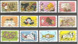 FRANCE 2016 : A A Y T N° 1312/1323 PROVERBES / ETRE LE DINDON DE LA FARCE : SERIE COMPLETE Oblitérée - Adhesive Stamps