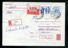 Marcophilie,entier Postaux Hongrie,téléphone Ancien,lettre Recommandée Györ 1989,aviation,chateau Bük