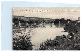 78 Saint Germain En Laye : Le Pecq - Le Pont Au Loin : La Terrasse De St Germain En Laye (pli à Droite) - St. Germain En Laye