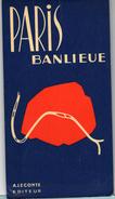 CARTES   PLANS DE PARIS     PARIS  BANLIEUE    METROPOLITAIN - Europe
