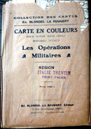 ITALIA CARTE DES OPERATIONS MILITAIRES GUERRE 1917/1918 TRENTINO VENETIA  AUTRICHE  GRANDE DIMENSION 100 X 38 CM - Tourism Brochures