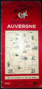 MICHELIN 63 PUY DE DOME 15 CANTAL  03 ALLIER AUVERGNE  GUIDE MICHELIN REGIONAL ROUGE 1942 COMPLET 86 PAGES PLANS CARTES - Tourism Brochures