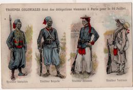 Troupes Coloniales Dont Des Délégations Viennent à Paris Pour Le 14 Juillet - Uniformes