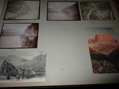 7x Ansichtskarte / Fotos Arco (Trentino) , Bozen , Rosengarten , Locarno Auf Albumseite  , Album , Postkarte , AK !!! - Andere Städte