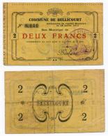 1914 - 1918 // BELLICOURT // Bon De 2 Francs - Bons & Nécessité