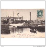 COSTP0600CPA-LFTDC430TAD.TARJETA  DEL PUERTO DE BARCELONA,ADUANA,BARCO Y ESTATUA DE COLON.1903,(Ed 242)  MUY  BONITA - Aduana