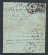 CARTE EN PNEUMATIQUE PARIS RUE R. CLEMENT MAROT :