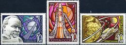 USSR, 1969 SK № 3654-3656 April 12. Cosmonautics Day