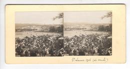 (n762) N°1 -photo Stéréo Originale 71 LE CREUSOT Fete  à Saint LAURENT 1906 Le Marché - Photos Stéréoscopiques