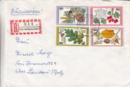 République Fédérale - Lettre Recommandée De 1980 - Oblitération Bad Reichenhall - Feuilles - Fruits - Fleurs - BRD