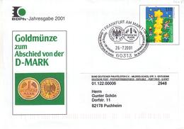 République Fédérale - Lettre De 2001 - Entier Postal - Oblit Frankfurt Am Main - Europa 2001 - BRD