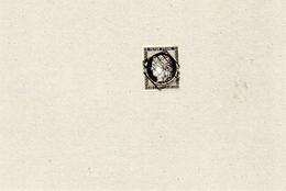 FRANCE N°3 20c CERES  Noir Sur Blanc Oblitéré Grille - 1849-1850 Cérès