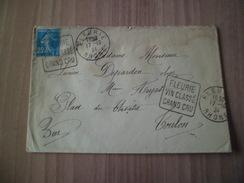 Lettre Fleurie Pour Toulon Le 17/10/1924  Avec Daguins FLEURIE VIN CLASSE GRAND CRU Le  N° 144 Seul Sur Lettre   B/TB