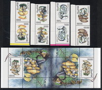 BELARUS 1999 Fungi Tete-beche Pairs And Block MNH / **.  Michel 330-33 Kd, Block 17 Kd - Belarus