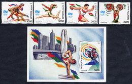 BELARUS 1996 Olympic Games Set Of 4 And Block MNH / **.  Michel 149-52, Block 9 - Belarus