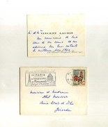 - FRANCE . CARTE DE VISITE DANS PETITE ENVELOPPE DE 1966  . - Visitenkarten
