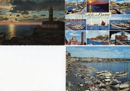 Anzio - Lotto 3 Cartoline TRAMONTO DAL FARO, SALUTI DA ANZIO, IL PORTO Anni'50/60/70 - OTTIMO N3 - Altre Città