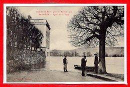 78 - MANTES -- Crue De La Seine - Janvier - Février 1910 - Quai De La Cour - Mantes La Jolie