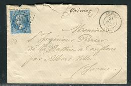 France - Cover - Enveloppe De Rumilly En 1866 Pour Albertville   Ref F115 - Marcophilie (Lettres)