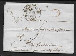 Pyrénées Orientales -   Cachet Type 12  De MONTLOUIS +   Sur Lettre De 1835 - Marcofilia (sobres)