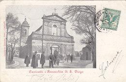 Canicatti - Parrocchia Di S.Diego - Animata Cartolina - Timbri Interessanti     (PA-12-110302) - Agrigento