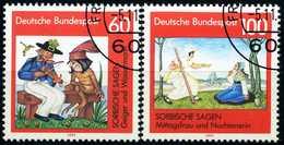 BRD - Mi  1576 / 1577 - OO Gestempelt  (B) - 60-100Pf      Sorbische Sagen - BRD