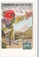 CPA Chemins De Fer PLM Paris-Lyon-Méditerranée VALLEE DE ZERMATT LE MONT ROSE - Suisse
