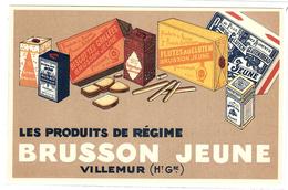 Carte PUB - Les Produits De Régime BRUSSON JEUNE - Villemur - BISCOTTES - PAIN - CHAPELURE - FARINE - Advertising