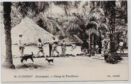 CPA COTONOU DAHOMEY Afrique Noire Colonies Françaises Non Circulé Camp De Tirailleurs - Dahomey