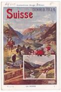 Image Publicité Collection Hugo D'Alési Chemins De Fer SUISSE VALLEE DU RHONE - Vieux Papiers