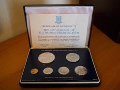 BRITISH VIRGIN ISLANDS SILVER PROOF SET 1977 - Monnaies