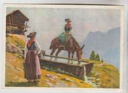 2 CPSM DISTRICT D'HERENS (Suisse-Valais) - EVOLENE : Fontaine Alpestre, VAL D'HERENS La Dent Blanche - VS Valais