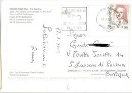 TIMBRO SU CARTOLINA UN FRANCOBOLLO PPO LOTTA TUMORI DEL SENO 2002 - Timbri Generalità