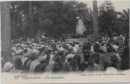 CPA Porto NOVO Afrique Noire Colonies Françaises Non Circulé Fête Musulmane - Dahomey