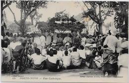 CPA Porto NOVO Afrique Noire Colonies Françaises Non Circulé Fête Catholique - Dahomey