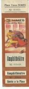 30 NIMES CORRIDA TICKET ENTIER ENTREE TOROS TAUROMACHIE TAUREAUX 1955 - Tickets - Vouchers