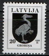 PIA  -  LETTONIE  -  1996  : Stemmi Delle Regioni - Millesimo 1996 -   (Yv  396) - Lettonia