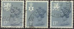 GB Yv. N°1154 à 1156 - 17p Gris-bleu Emissions Régionales - Oblitéré - Machins