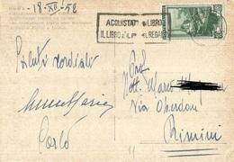 TIMBRO SU CARTOLINA ACQUISTATE UN LIBRO IL LIBRO E' IL PIU' BEL REGALO 1952 - Timbri Generalità