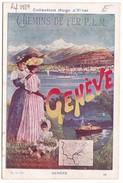 Image Publicité Collection Hugo D'Alési Chemins De Fer PLM GENEVE - Non Classés